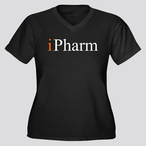 iPharm Women's Plus Size V-Neck Dark T-Shirt