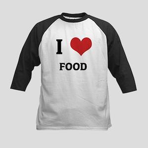 I Love Food Kids Baseball Jersey