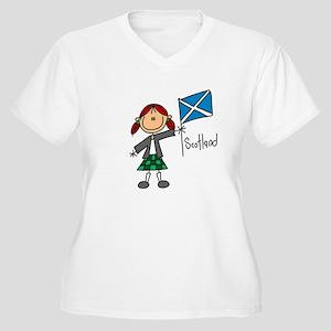 Scotland Ethnic Women's Plus Size V-Neck T-Shirt
