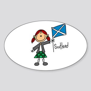 Scotland Ethnic Oval Sticker