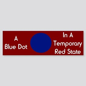 Blue Dot Bumper Sticker