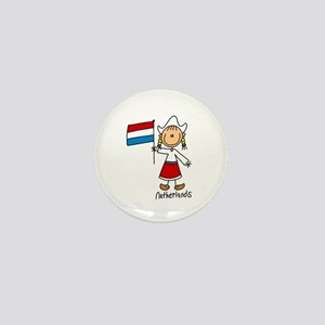 Netherlands Ethnic Mini Button