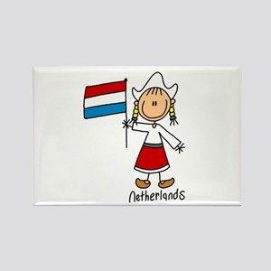 Netherlands Ethnic Rectangle Magnet