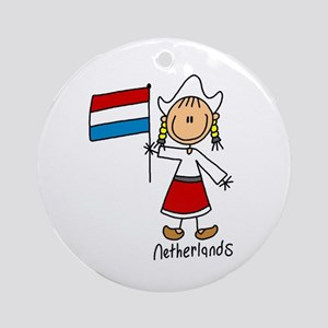 Netherlands Ethnic Ornament (Round)