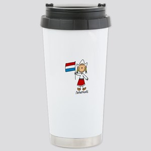 Netherlands Ethnic Stainless Steel Travel Mug