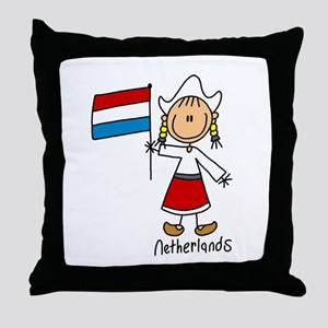 Netherlands Ethnic Throw Pillow