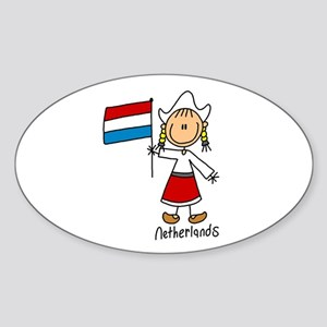 Netherlands Ethnic Oval Sticker