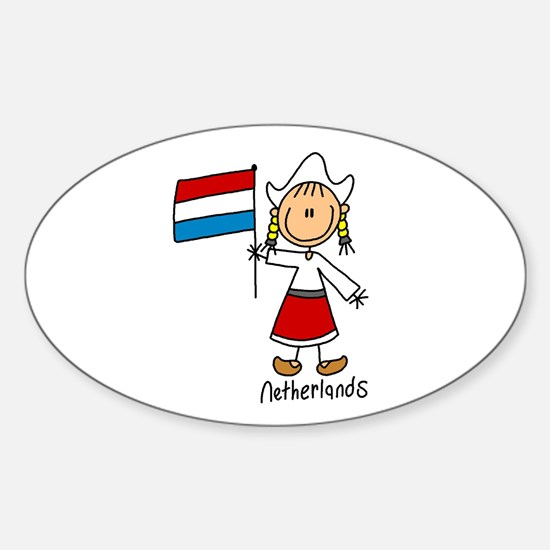 Netherlands Ethnic Oval Stickers