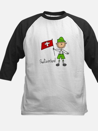Switzerland Ethnic Kids Baseball Jersey
