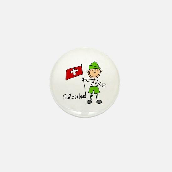 Switzerland Ethnic Mini Button
