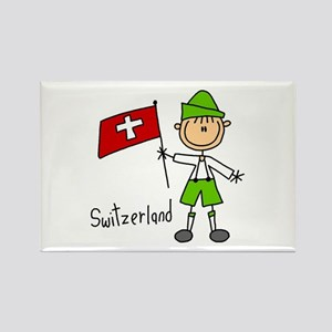 Switzerland Ethnic Rectangle Magnet