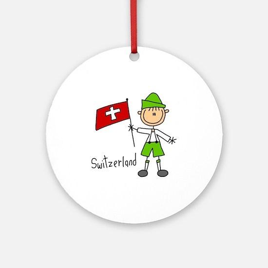 Switzerland Ethnic Ornament (Round)