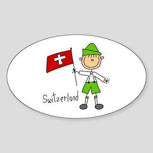 Switzerland Ethnic Oval Sticker