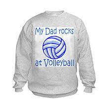 VolleyChick My dad rocks blue Kids Sweatshirt