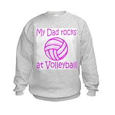 VolleyChick My Dad Rocks Pink Kids Sweatshirt