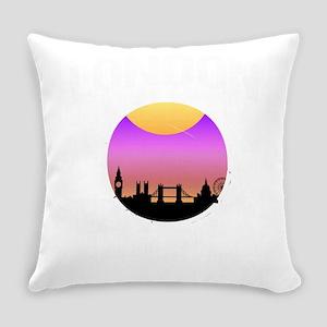 London is Calling City Skyline Sun Everyday Pillow