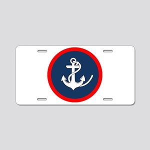 ANCHOR ON BLUE AND RED CIRCLE Aluminum License Pla