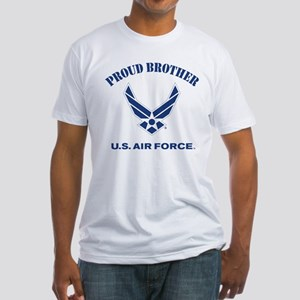 Proud US Air Force Brother Fitted T-Shirt