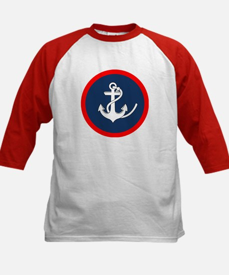 ANCHOR ON BLUE AND RED CIRCLE Baseball Jersey