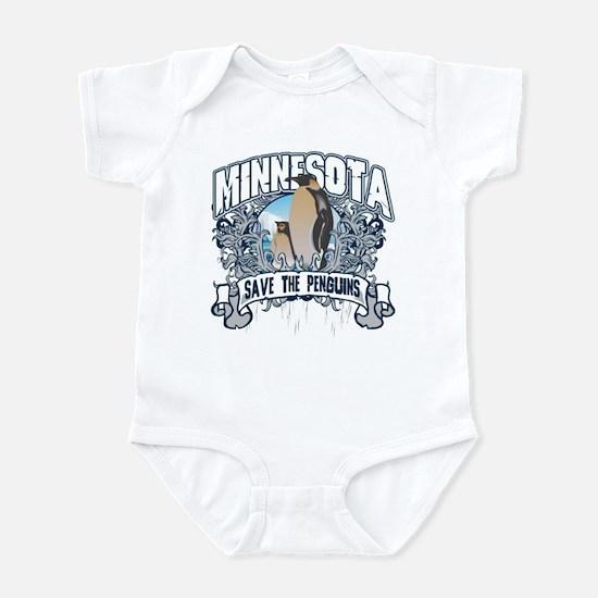 Save the Penguins Minnesota Infant Bodysuit