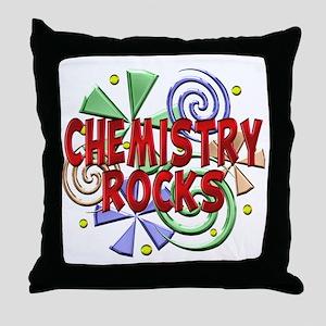 Chemistry Rocks Throw Pillow