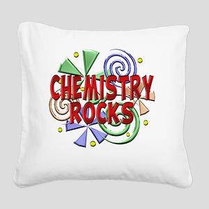 Chemistry Rocks Square Canvas Pillow