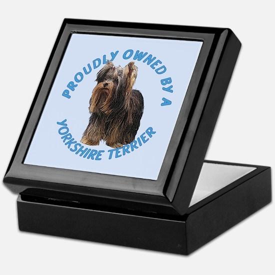 Proudly Owned Yorkie Keepsake Box