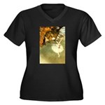 Etoile Women's Plus Size V-Neck Dark T-Shirt