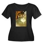 Etoile Women's Plus Size Scoop Neck Dark T-Shirt