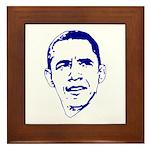 Obama Line Portrait Framed Tile