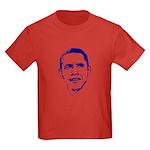 Obama Line Portrait Kids Dark T-Shirt