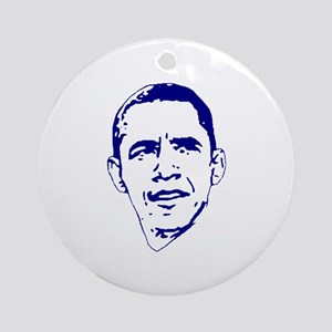 Obama Line Portrait Ornament (Round)