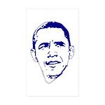 Obama Line Portrait Rectangle Sticker 50 pk)