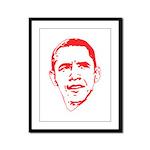 Obama Line Portrait Framed Panel Print