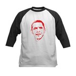Obama Line Portrait Kids Baseball Jersey