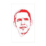 Obama Line Portrait Rectangle Sticker 10 pk)