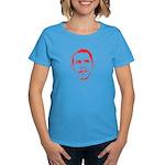 Obama Line Portrait Women's Dark T-Shirt