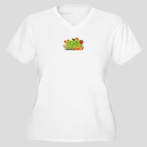 Super Junior-Happy V Neck Shirt (Plus Size)