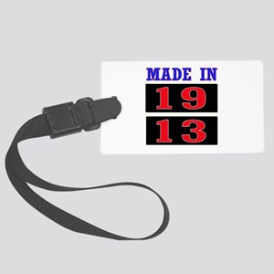 Made In 1913 Large Luggage Tag