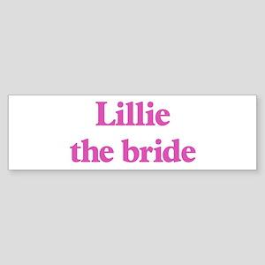 Lillie the bride Bumper Sticker