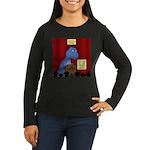 T-Rex Graduation Women's Long Sleeve Dark T-Shirt