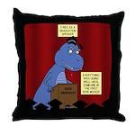 T-Rex Graduation Speaker Throw Pillow
