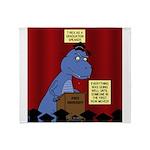T-Rex Graduation Speaker Throw Blanket