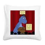 T-Rex Graduation Speaker Square Canvas Pillow