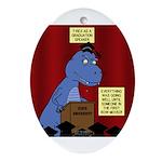 T-Rex Graduation Speaker Oval Ornament