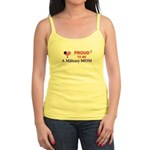 PROUD TO BE A MILITARY MOM Jr. Spaghetti Tank