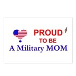 PROUD TO BE A MILITARY MOM Postcards (Package of 8