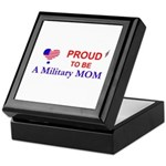 PROUD TO BE A MILITARY MOM Keepsake Box