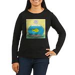 Fishbowl Circles Women's Long Sleeve Dark T-Shirt