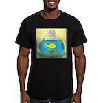 Fishbowl Circles Men's Fitted T-Shirt (dark)